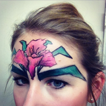 Floral Forehead Facepaint